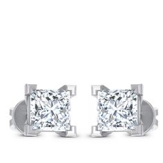 Square Solitaire Earring Diamond Solitaire Earrings, Jewels, Engagement Rings, Enagement Rings, Wedding Rings, Jewerly, Diamond Engagement Rings, Gemstones, Fine Jewelry