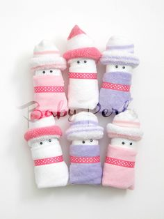 6 Baby Girl Diaper Babies baby shower Favors Baby by MsPerks