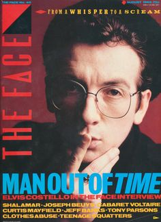 The Face august 1983 Elvis Costello, The Face Magazine, Punk Art, Popular Culture, Writer, Sheffield, Magazine Covers, Gallery, 1980s