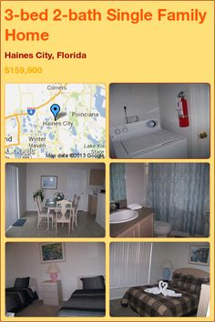 3-bed 2-bath Single Family Home in Haines City, Florida ►$159,900 #PropertyForSale #RealEstate #Florida