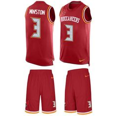 Nike Buccaneers  3 Jameis Winston Red Team Color Men s Stitched NFL Limited  Tank Top Suit 6f7a08bd9