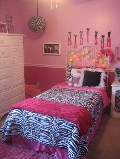 pink zebra room | Madison's Zebra Tween pink room - Girls' Room Designs - Decorating ...
