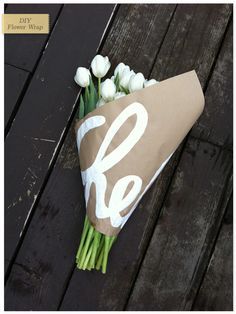 Personalized flower wrap...great idea