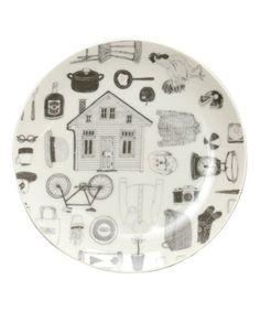 GEORGE'S KITCHEN(ジョージズ キッチン)のGEORGE'S イラストプレート S(食器)|ホワイト