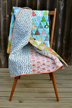 gorgeous triangle scrap quilt
