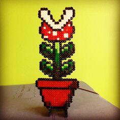Super Mario plant hama beads by hamageekworld