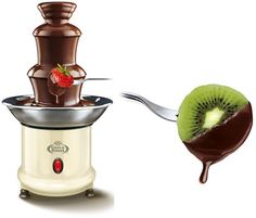 Mini Chocolate Fountain Mini Chocolate Fountain, Chocolate Fountains, Fondue Fountain, Novelty Gifts, Kitchen Stuff, Own Home, Warm, Friends, Stuff To Buy