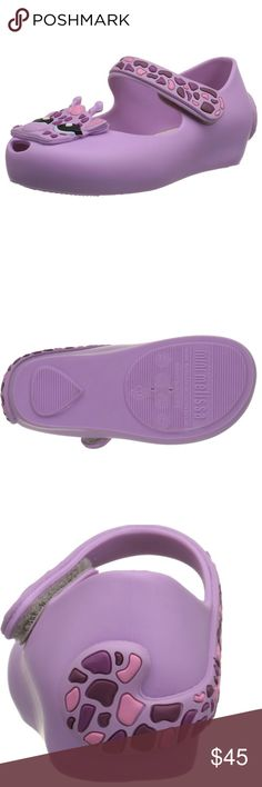 💜💜 Mini Melissa Shoes 💜💜 Adorable purple giraffe shoes. Absolutely precious! Brand new in box! Mini Melissa Shoes