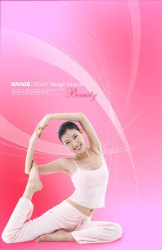 Yoga slim beauty PSD download | Character material