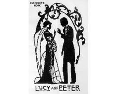 Art Deco Bride and Groom Cross Stitch from NewYorkNeedleworks on Etsy