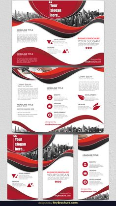 This modern brochure template breaks new ground with bold angles and lines. It's a tri-fold layout that doesn't bend to expectations and provides a fresh Graphic Design Brochure, Corporate Brochure Design, Slogan Design, Design Poster, Business Brochure, Brochure Indesign, Travel Brochure Template, Brochure Layout, Brochure Design Templates
