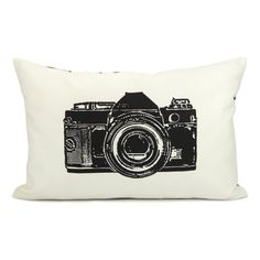Vintage camera pillow case  Black retro camera by ClassicByNature, $32.00