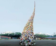 Wang Zhiyuan's 37-Foot-Tall Trash Tornado Spirals Into the Sky | Inhabitat - Sustainable Design Innovation, Eco Architecture, Green Building