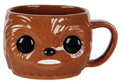 Product Info Not so long ago, in a galaxy pretty close by Funko made your favorite Star Wars character into a mug! Incorporating the memorable design of Pop! Vinyl Figures, this Star Wars Chewbacca Po