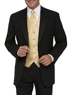 gold and black prom suits - Google Search