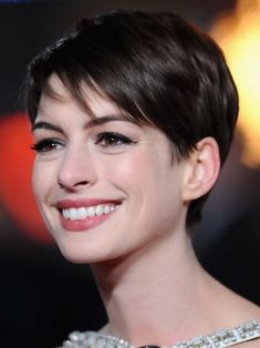 Maybe someday again...  Anne Hathaway Short Straight Haircuts 2013
