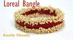 How to make Designer Pearl Loreal Silk Thread Bangle at Home | Tutorial | Knotty Threadz !! - YouTube