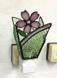 「おやすみランプ・桜」ステンドグラス・照明・春・フットランプ・さくら