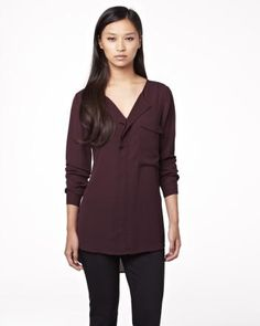 Tunic blouse with oversize pocket Fall 2013 Collection Tunic Blouse, Tunic Tops, Passion For Fashion, Fashion Inspiration, Pocket, Clothes For Women, My Style, Fall, How To Wear