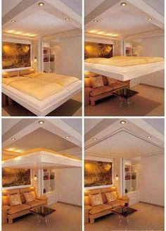 Wohnzimmer Schlafzimmer in einem Design originelle Idee