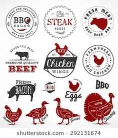 Grill, Barbecue and Steak Design Elements in Vintage Style Grill Barbecue, Vintage Style, Vintage Fashion, Design Elements, Steak, Royalty Free Stock Photos, Pork, Beef, Foods