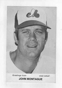 John Montague 1970s Montreal Expos Team Issue Photo Card 3.5 x 5.5 Vtg Baseball
