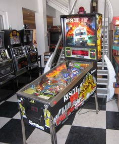 Rescue 911 Pinball Machine Based on The Action Television Show LED Upgraded | eBay