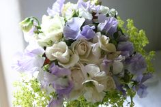 this bride, early july, had sweet peas, roses... all grown, cut and tied by @Georgie Cancikova Newbery at www.commonfarmflowers.com #britishflowers