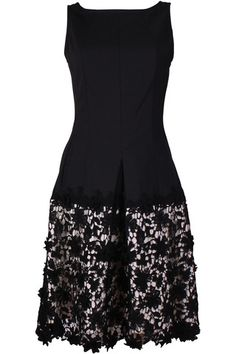 Twin Set P2S5QN Black Lace Panel Dress. You can always count on Twin Set for high quality pieces with a twist of personality and boy, have they delivered on this one! The shape of this dress is so dainty and feminine - such a beautiful take on the LBD!  Outer: 49% polyamide, 48% cotton, 3% elastane Lining: 100% cotton Hand wash only  Code: P2S5QN Black