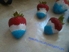 One Cool Lunch: red white blue strawberries