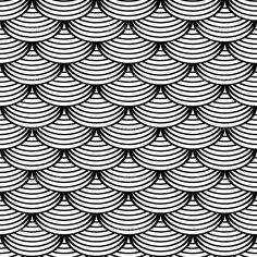 Illustration of Seamless geometric patterns. Designs set with circle-shaped elements. vector art, clipart and stock vectors. Geometric Patterns, Geometric Lines, Geometric Designs, Textures Patterns, Geometric Tattoo Pattern, Geometric Tattoos, Line Patterns, Design Set, Scale Design