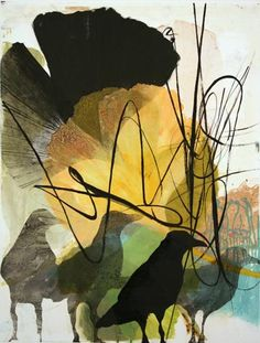 Jonelle Johnson. Black Gingko, 2013. Monotype. 1/1. 22 x 17 inches.