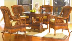Autumn Morning Cane Dining Set From South Sea Rattan Indoor Wicker Furniture Oriental