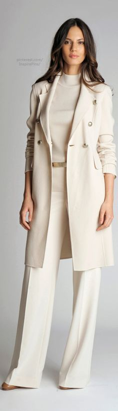 St. John-love this but I would never be able to wear an all cream outfit
