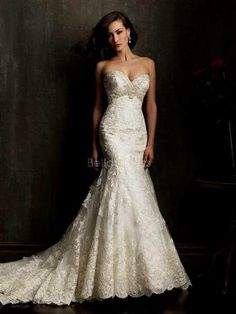 Nice wedding dresses mermaid lace sweetheart 2017-2018