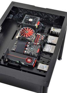 CPUやグラボを飾れる机型自作PCケース : ギズモード・ジャパン