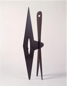 Abstract Sculpture by Isamu Noguchi, Isamu Noguchi, Untitled, 1943-9, Purple Slate, 56 1/8 inches high