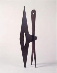 Abstract Sculpture by Isamu Noguchi, Isamu Noguchi, Untitled, 1943-9, Purple Slate, 56 1/8 inches high