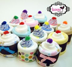 Very cute way to give blankets & onsies for a baby shower!