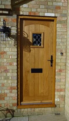 Oak Cottage Doors Framed Ledged Oak or Painted Hardwood Cottage Style Doors, Cottage Front Doors, Oak Front Door, Cottage Porch, Porch Doors, Wooden Front Doors, House Front Door, Front Door Design, Front Door Decor