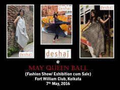 #7thMay2016 #MayQueenBall #FortWilliam #Kolkata  #TieDye #Shibori #Batik #Mal #Linen #fashionshow  #exhibition #sale