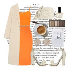 """""""🍊"""" by burcaak ❤ liked on Polyvore featuring By Malene Birger, WearAll, Acne Studios, Topshop, Gucci, Balmain, StreetStyle and skirt"""