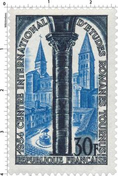 France Stamp - Tournus (1954)