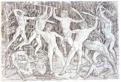 Pollaiuolo nude warriors in combat-1470-80- - Antonio del Pollaiolo - Wikipedia