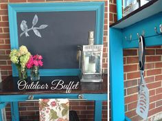 Repurposed Table and Mirror to Outdoor Buffet and Grilling Station :: Hometalk