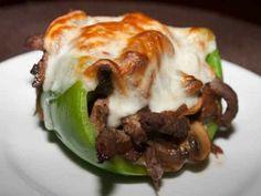 Low Carb Idea. Fajita Stuffed Green Peppers