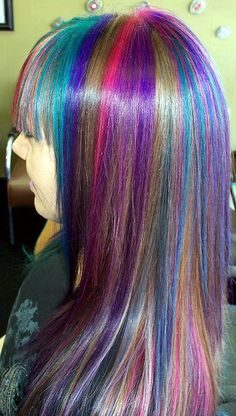 Funky hair Colours by martin.hairlover, via Flickr