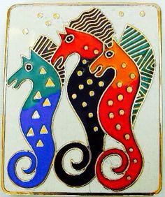 Seahorse x 3 ~ Laurel Burch ~ k