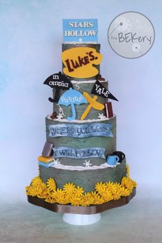 Gilmore Girls CAKE! By Rebecca Landry of The BEKery Custom Cakes