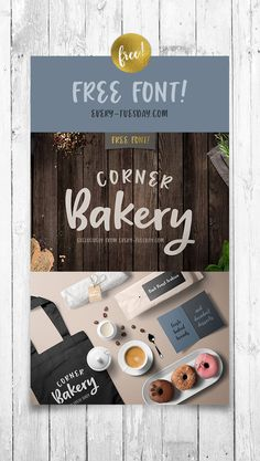 Pick up your free font, Corner Bakery! A handmade font with soft and subtle charm | every-tuesday.com via @teelac